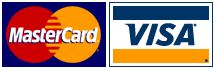 Secure checkout with MasterCard and Visa